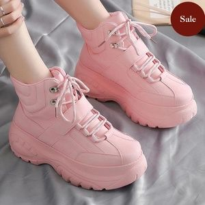 Shoes - Chunky Mid Top Sneakers